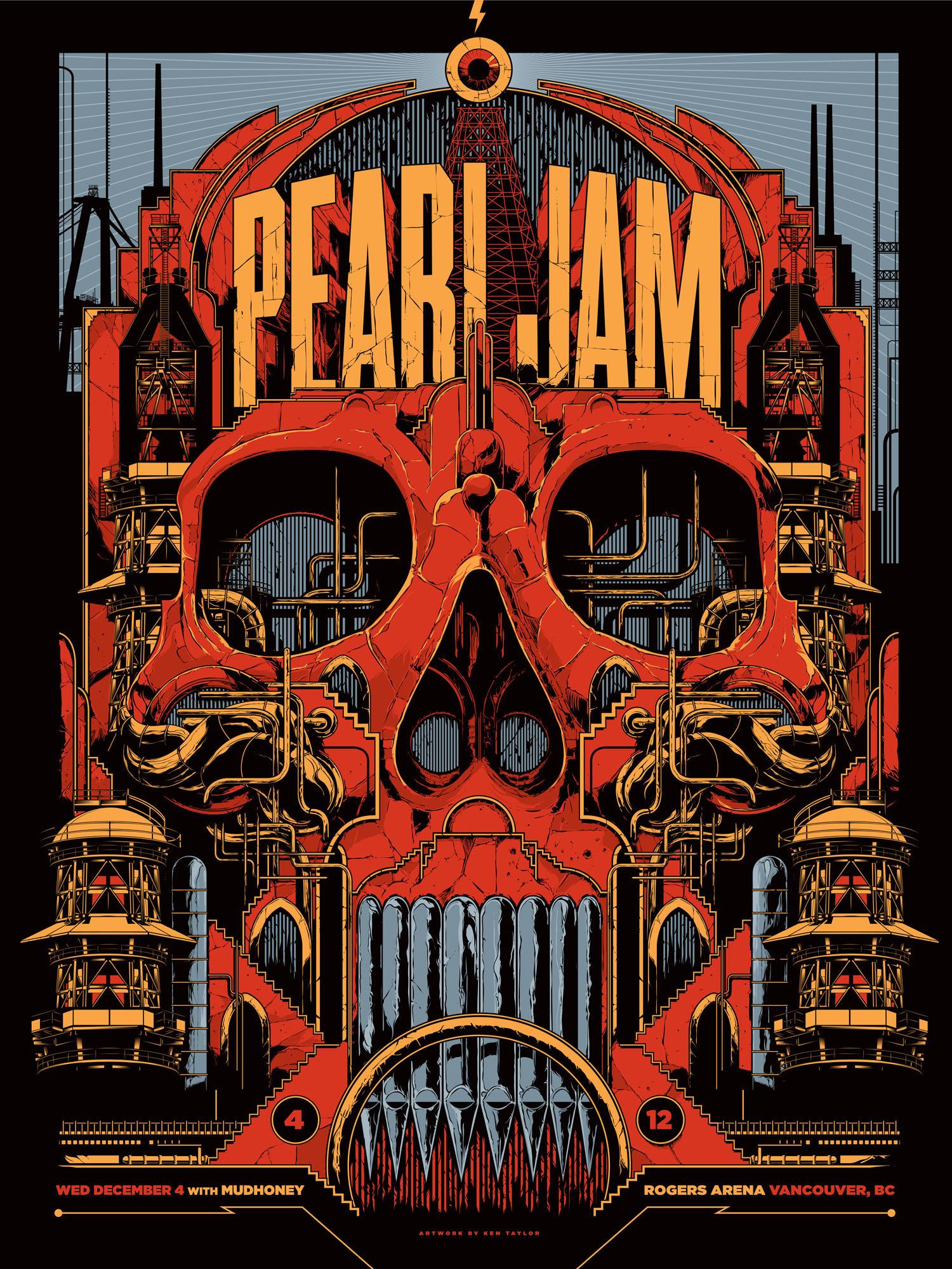 Shirt design melbourne - Pearl Jam Vancouver