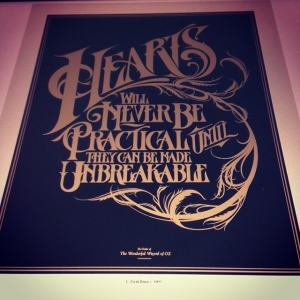 Typography piece for the drawingbook's art of storytelling show
