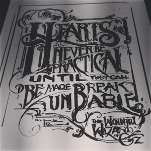 Quick sketch for a typography piece - will post next stage tomorrow